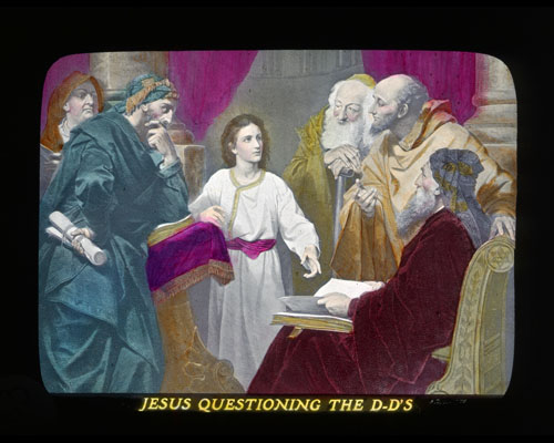 Photo-Drama of Creation, Jesus questioning the Doctors