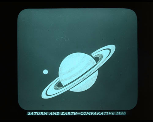 Photo-Drama of Creation Saturn and Earth comparative size
